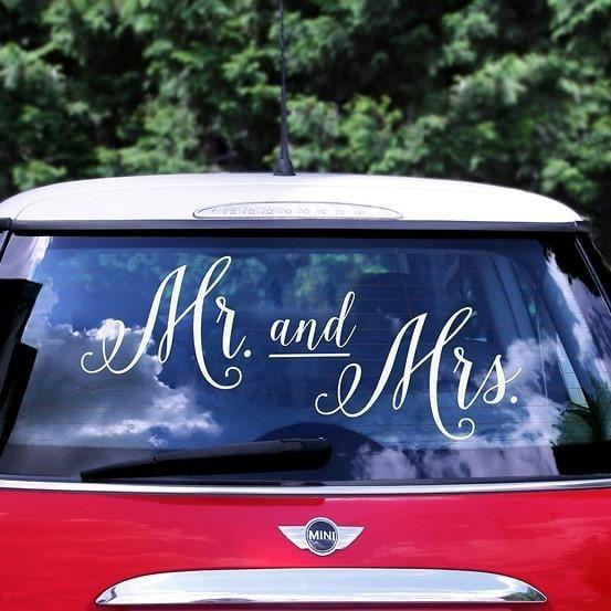 Autoaufkleber Mr and Mrs