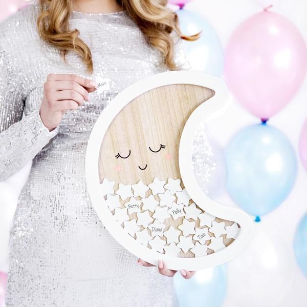 Baby Gästebuch Rahmen Mond