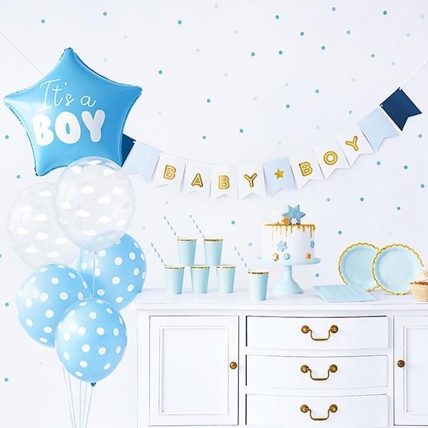 Baby Shower Deko Set Junge 49-teilig