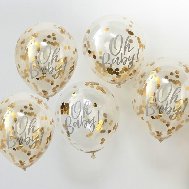 """Baby Shower Konfetti Ballons """"Oh Baby"""""""