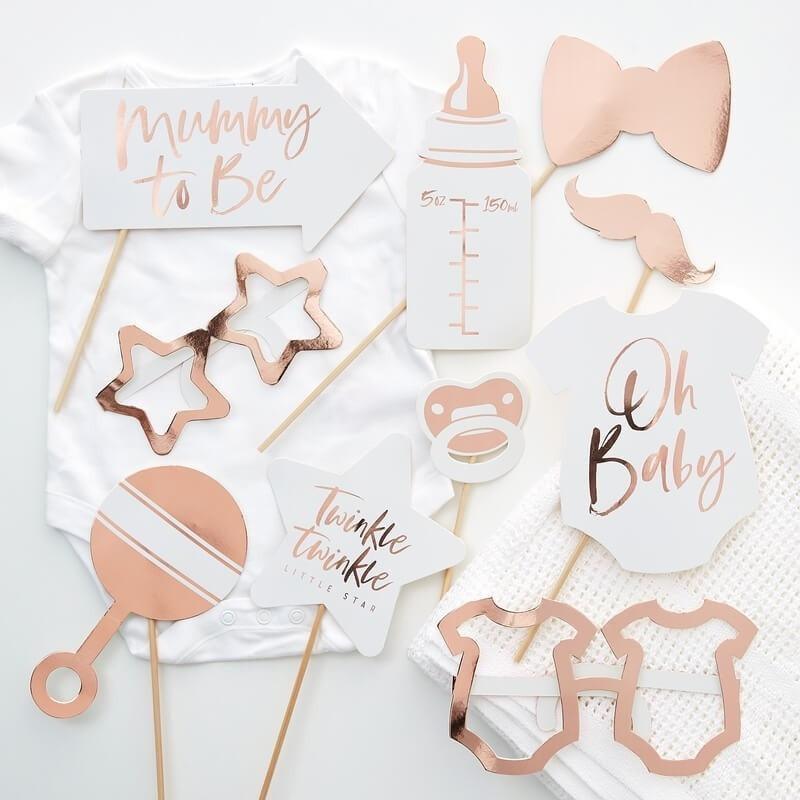 Baby Shower Photo Booth rosegold