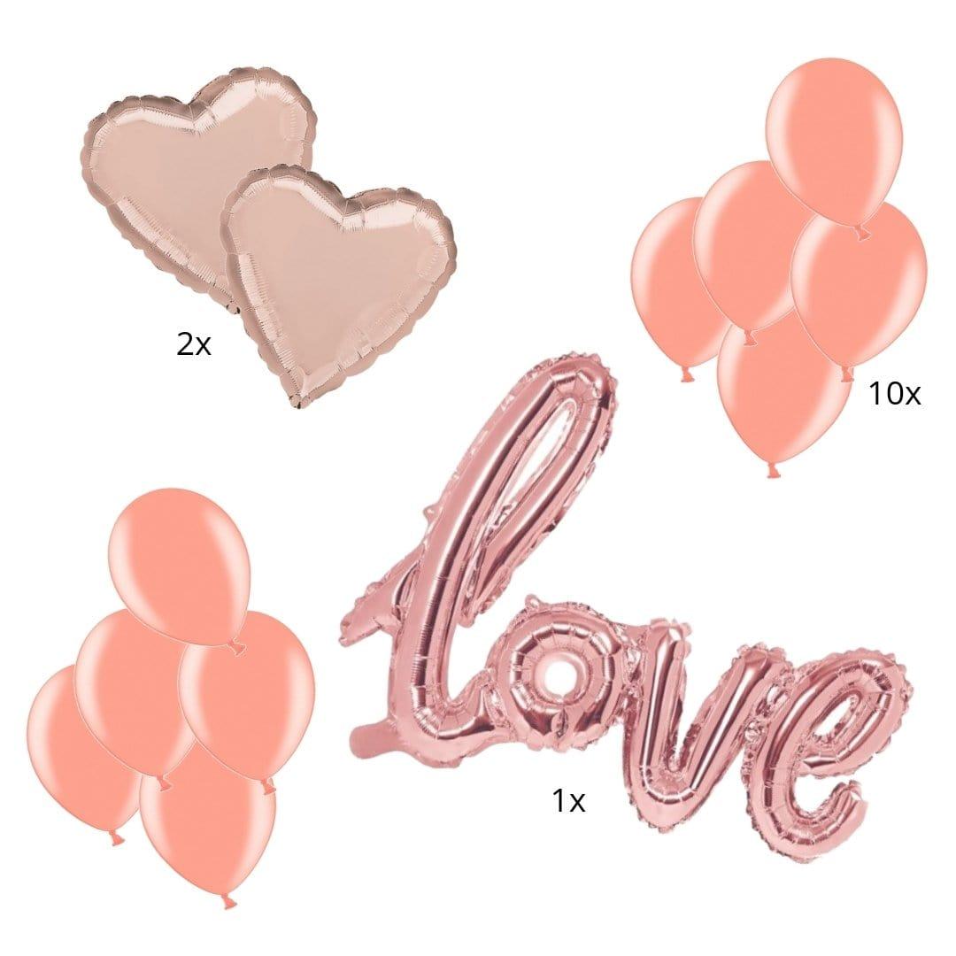 Ballon Deko Set rosegold S (13-teilig)