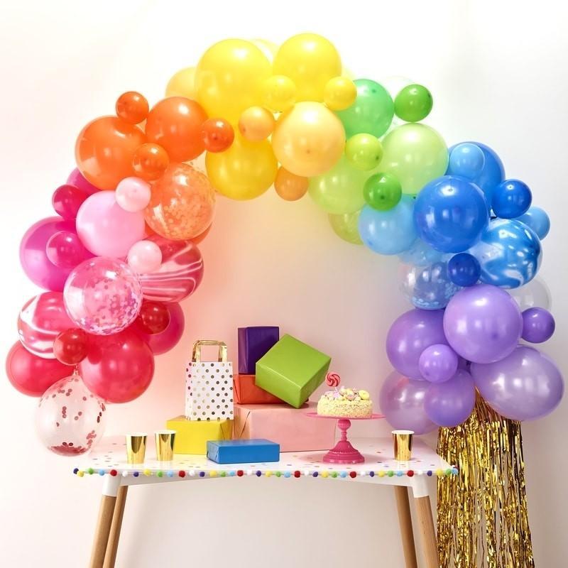 Ballongirlande Set Regenbogen (85-teilig)