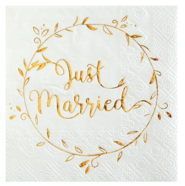 Cocktail Servietten Just Married