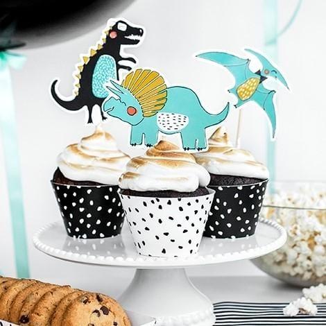 Cupcake Förmchen Pünktchen - schwarz/weiß
