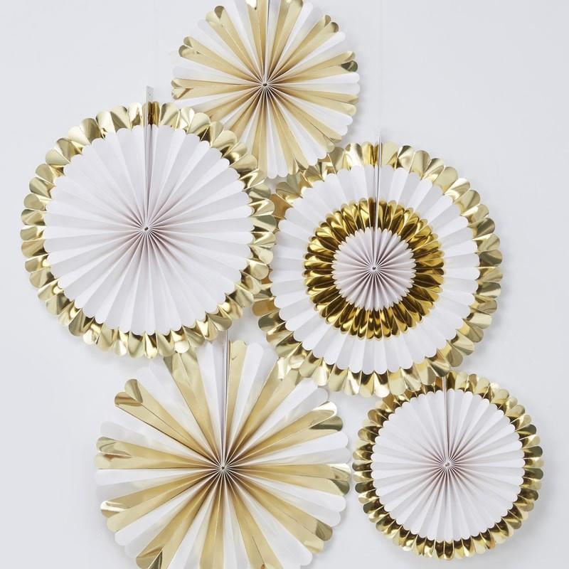 Deko Rosetten - gold