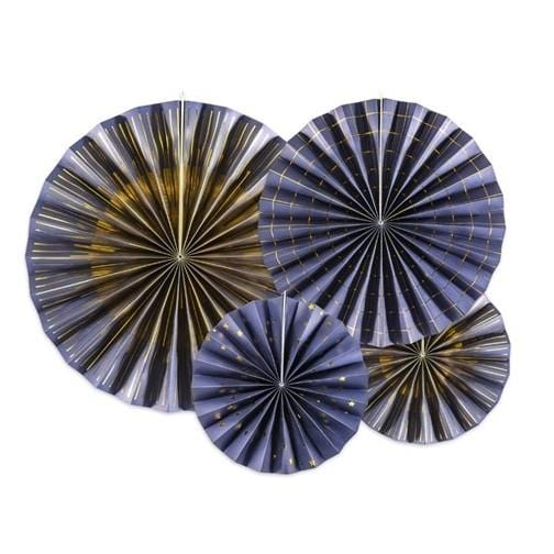 Deko Rosetten - marineblau