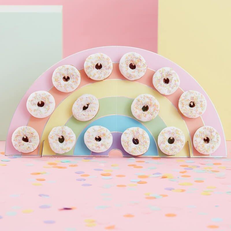 Donut Aufsteller Regenbogen