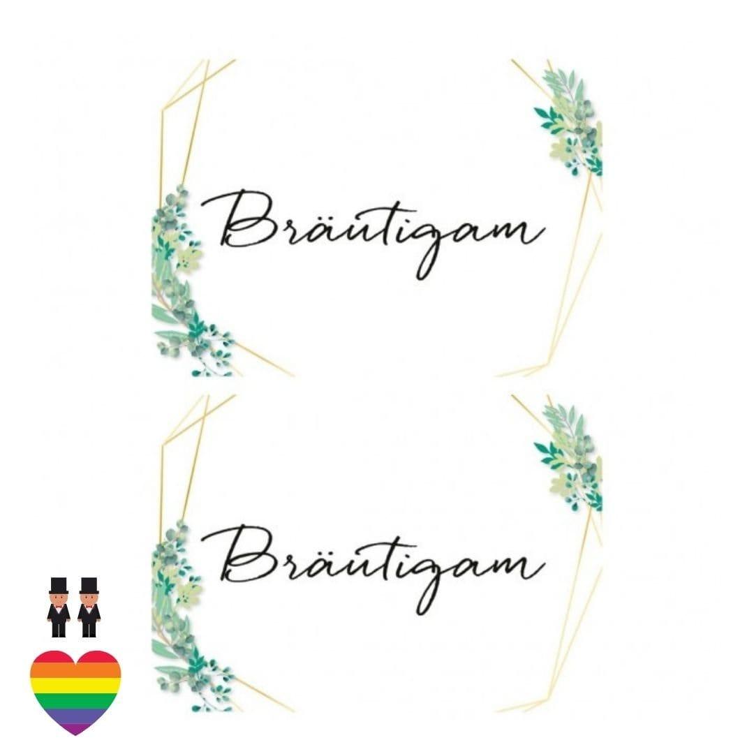 Eukalyptus Schilder Bräutigam - Mr & Mr