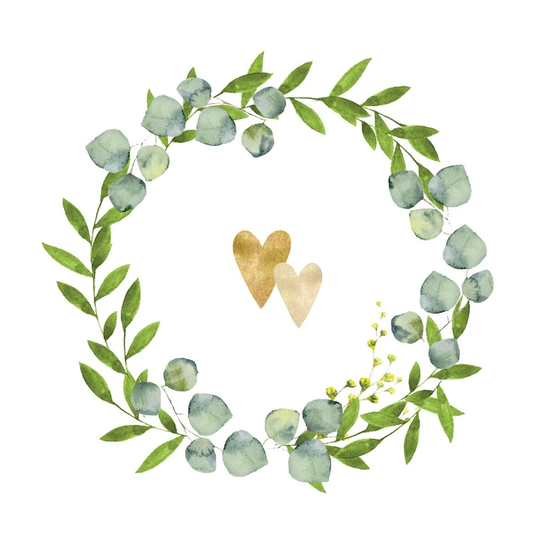 Eukalyptus Servietten Herzchen