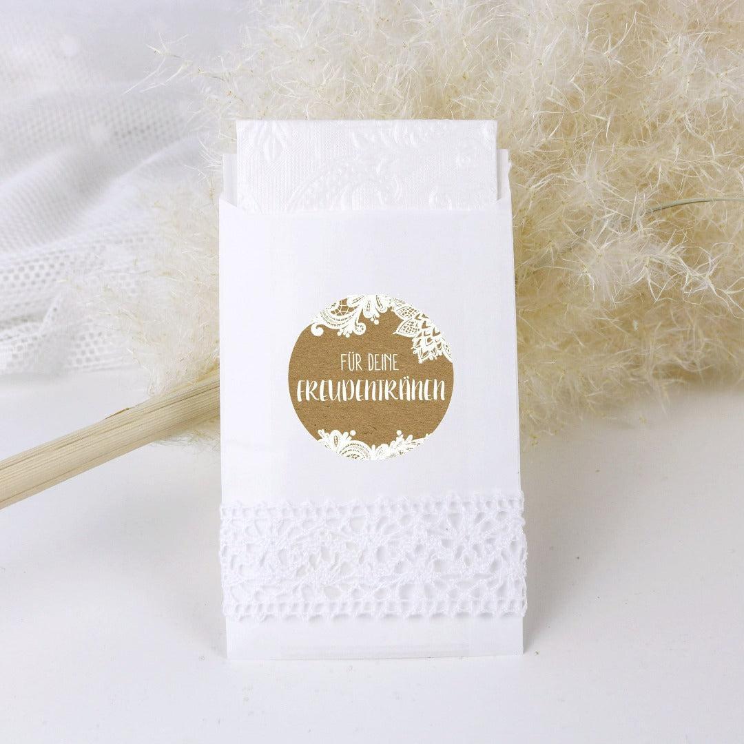 Flachbeutel für Freudentränen weiß (24 Stück)