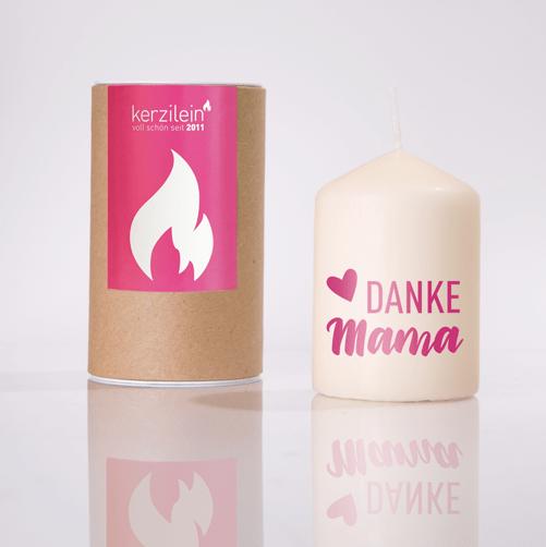 "Flämmchen ""Danke Mama"" - pink"