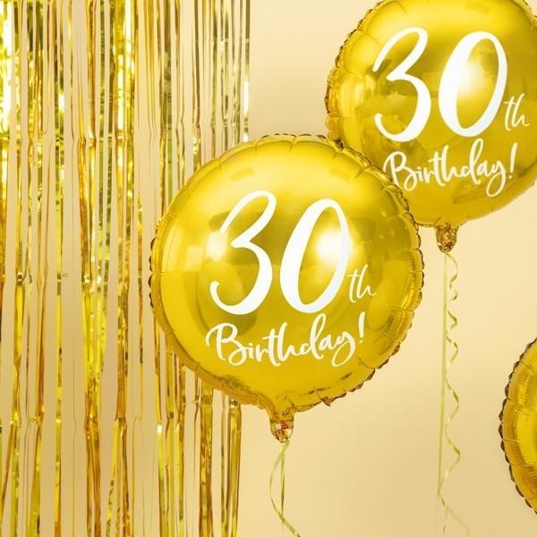 Folienballon 30. Geburtstag