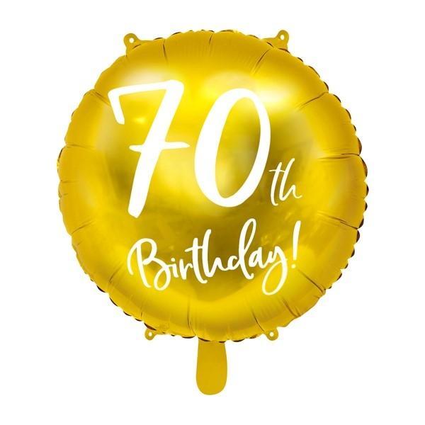 Folienballon 70. Geburtstag