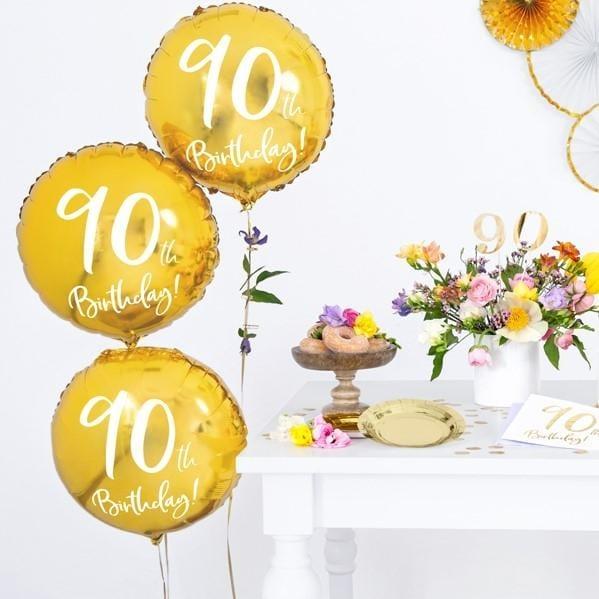 Folienballon 90. Geburtstag