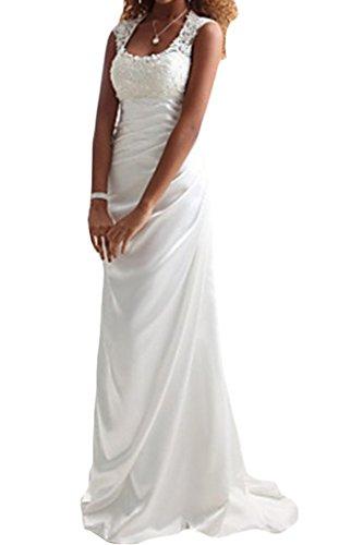 Victory Bridal weisses, langes Hochzeitskleid