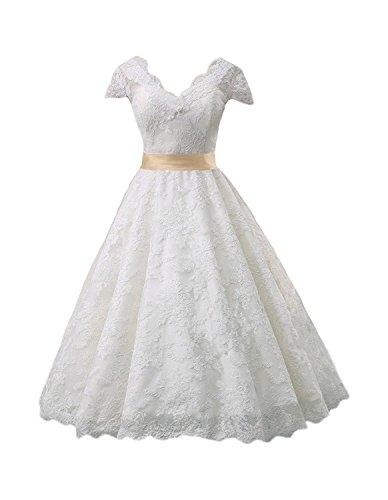 Cinderella dresses®  Brautkleid mit Tüllspitze und V-Ausschnitt