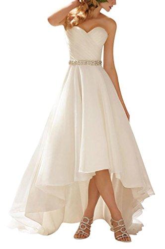 GEORGE BRIDE Einfaches, weisses Satin Brautkleid, Größe 38, Elfenbein