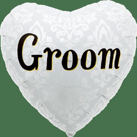 "Folienballon Herzform ""Groom"""