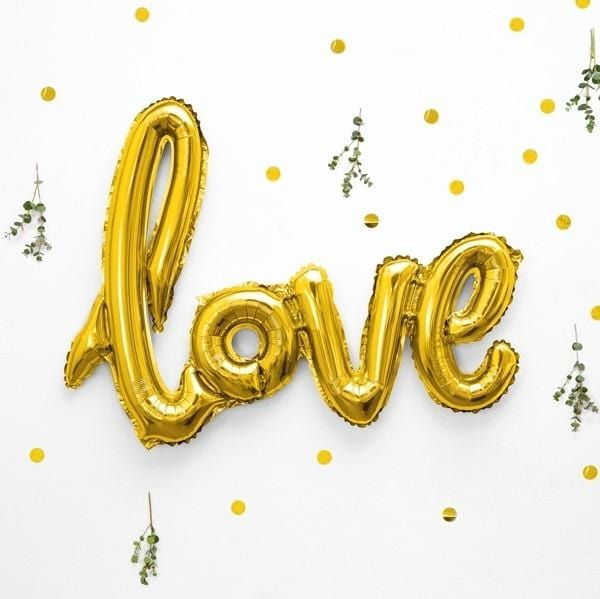 Folienballon Love gold metallic