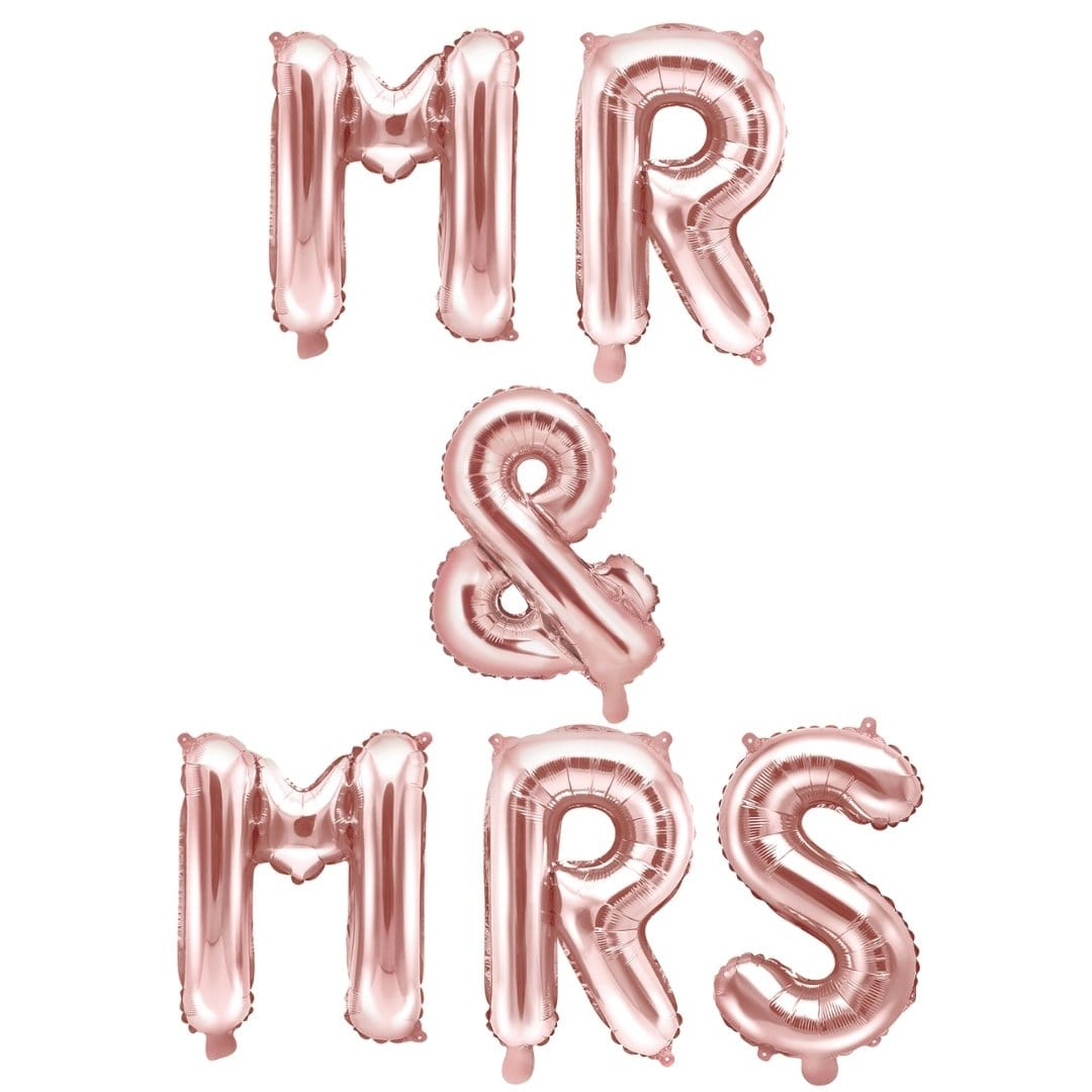 Folienballon Mr & Mrs rosegold