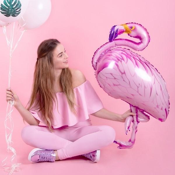 Folienballon rosa Flamingo