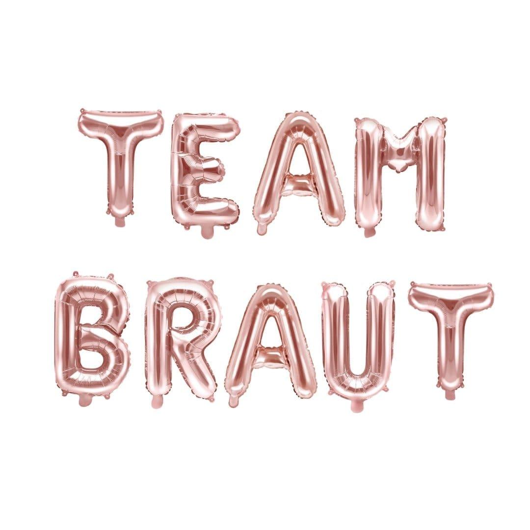 Folienballon Team Braut rosegold