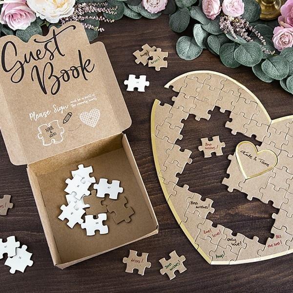 Gästebuch Herz Puzzle