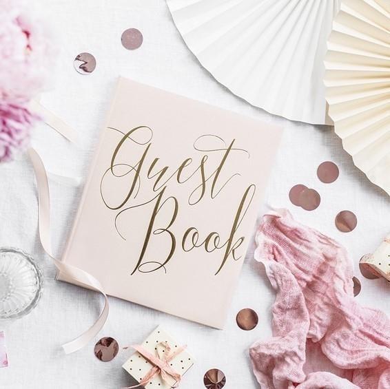 "Gästebuch Hochzeit ""Guest Book"" rosegold"