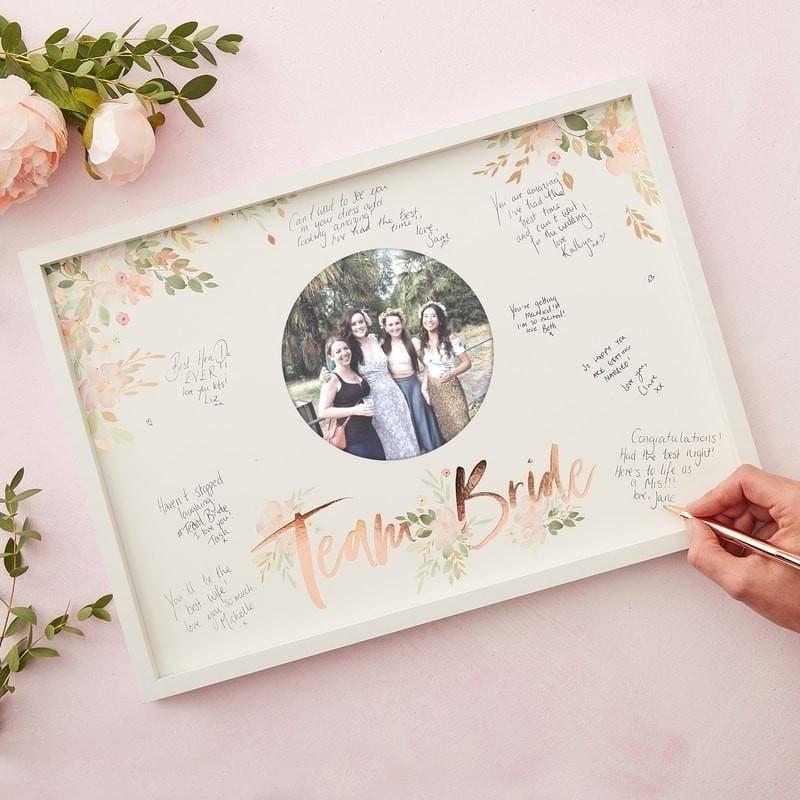 Gästebuch Rahmen Team Bride