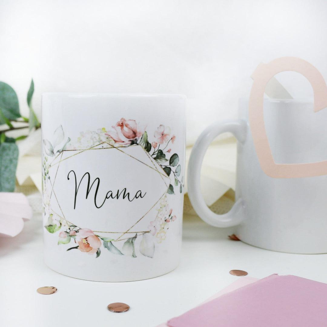 Geschenk Tasse für Deine Mama Blütenzauber
