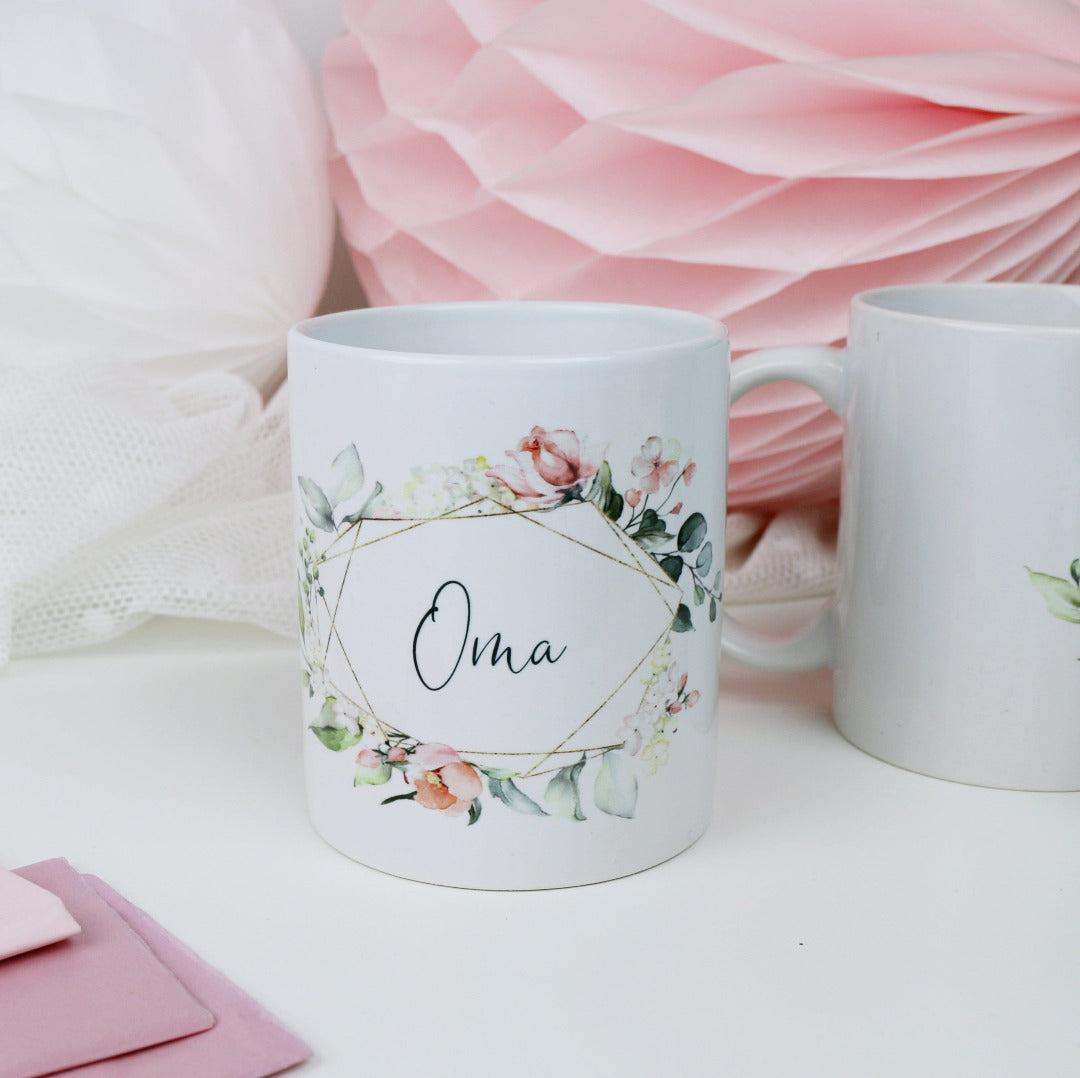 Geschenk Tasse für Deine Oma Blütenzauber