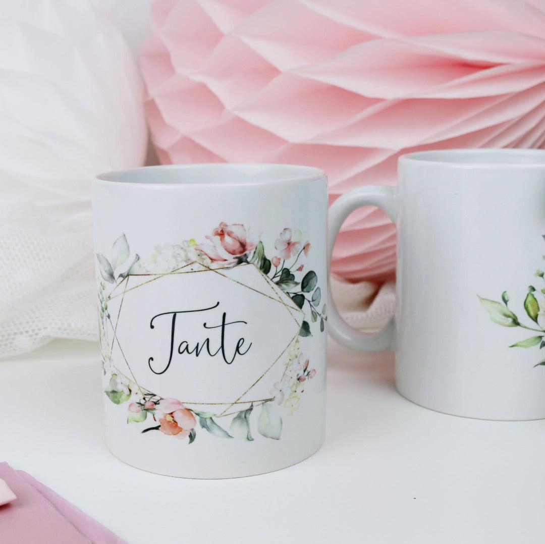 Geschenk Tasse für Deine Tante Blütenzauber