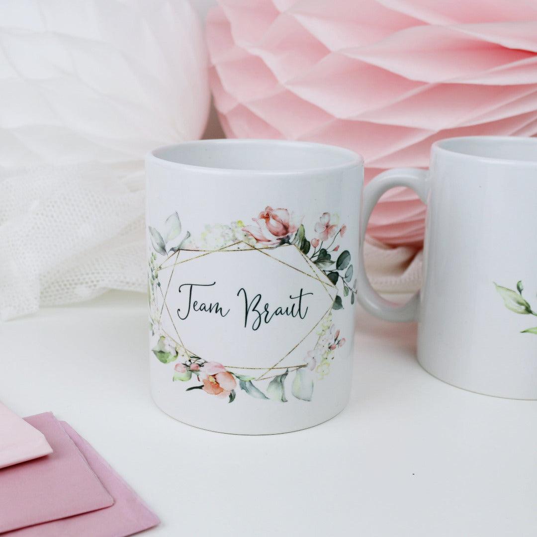 Geschenk Tasse Team Braut Blütenzauber