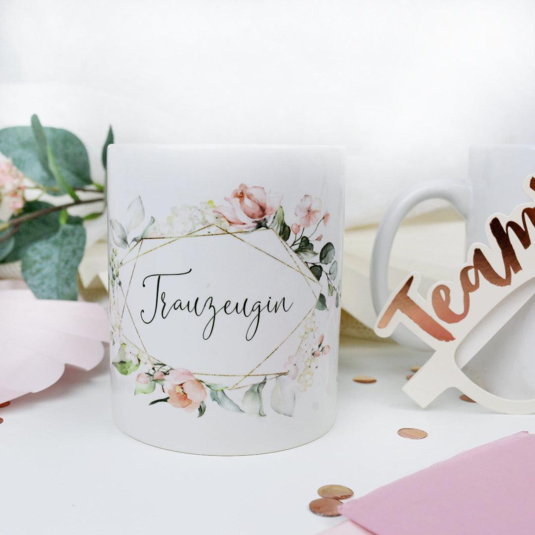 Geschenk Tasse für Deine Trauzeugin Blütenzauber