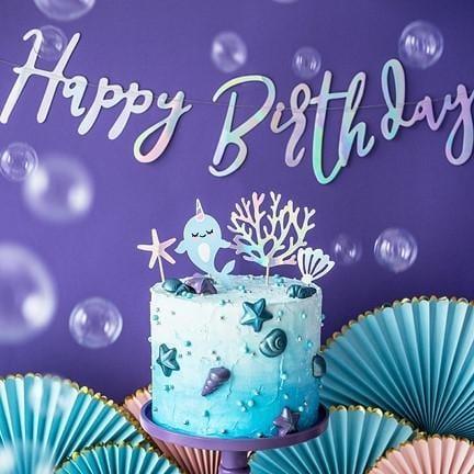 Girlande Happy Birthday Unter dem Meer