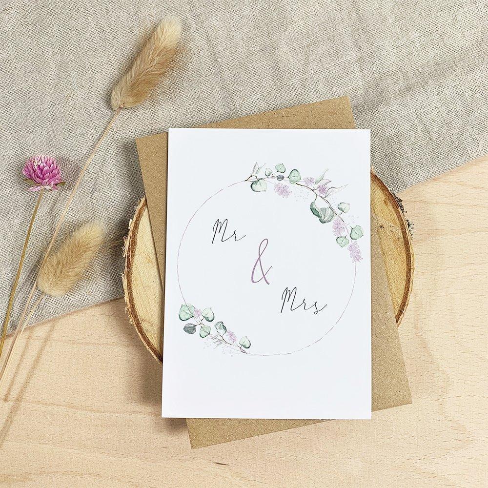 Glückwunschkarte Mr & Mrs