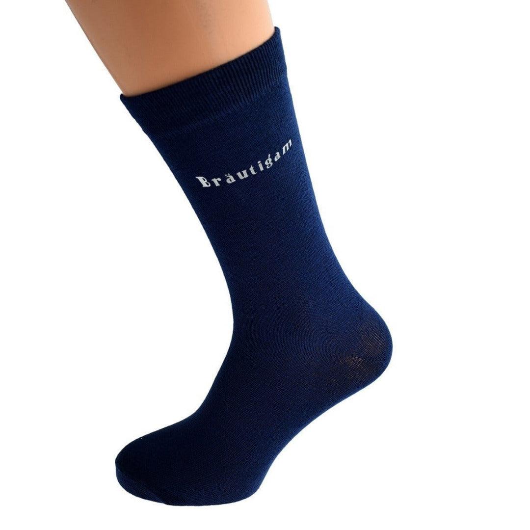 Hochzeit Socken Bräutigam - marine
