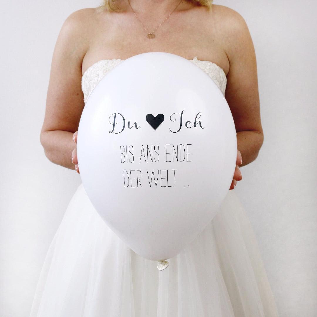 """Hochzeitsballons """"Du & Ich Bis ans Ende der Welt"""" (8 Stück)"""