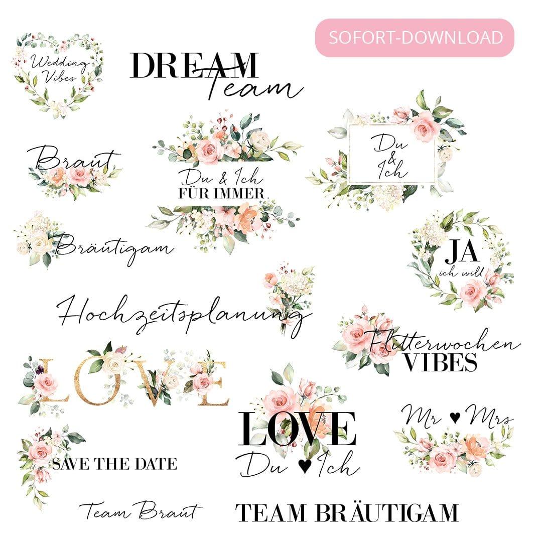 Instagram Story Sticker Set Blütenzauber
