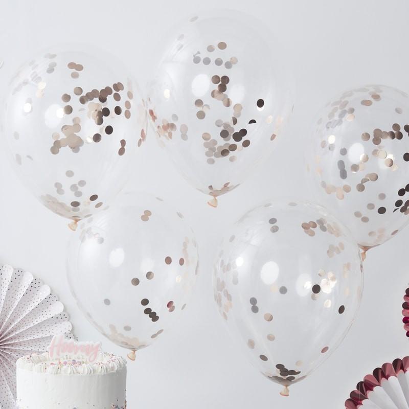Konfetti Ballons (10 Stück) - rosegold