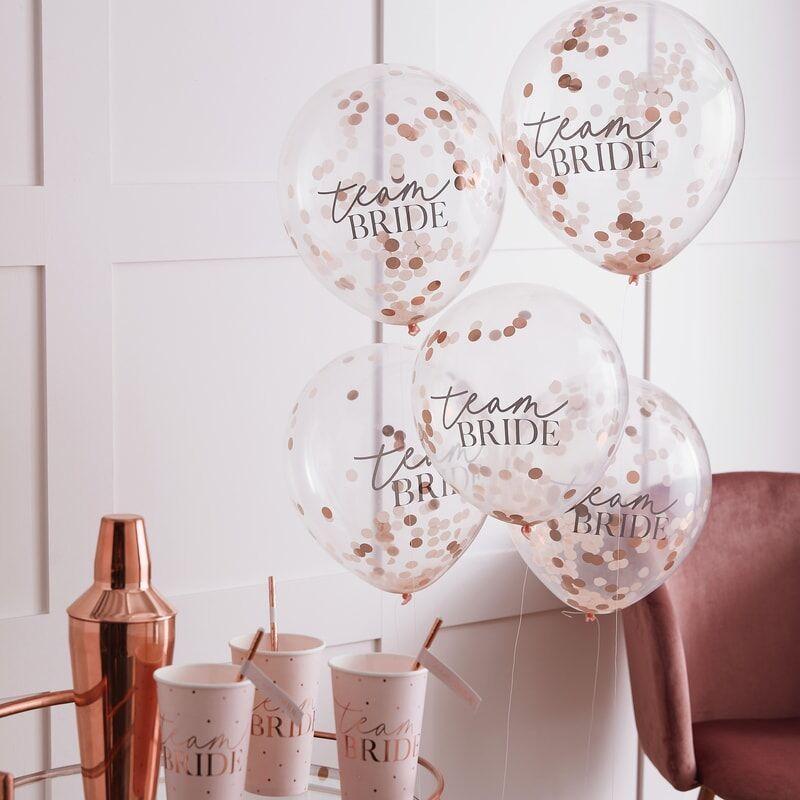 Konfetti Ballons Team Bride