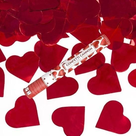 Konfetti Kanone - Herzen rot