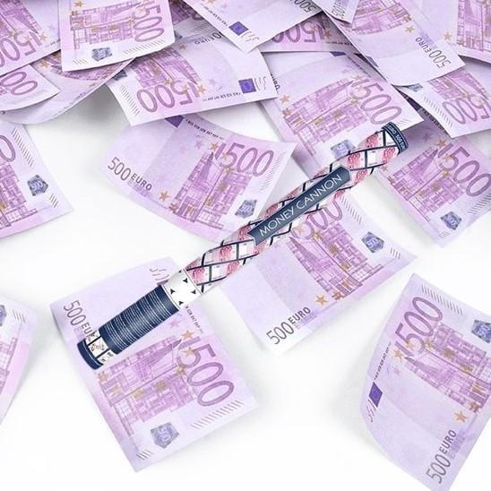 Konfetti Kanone 500 Euro Geldscheine