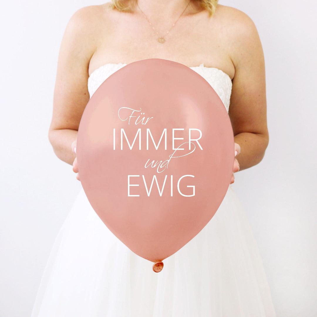 Latexballons Für immer und Ewig rosegold (10 Stück)