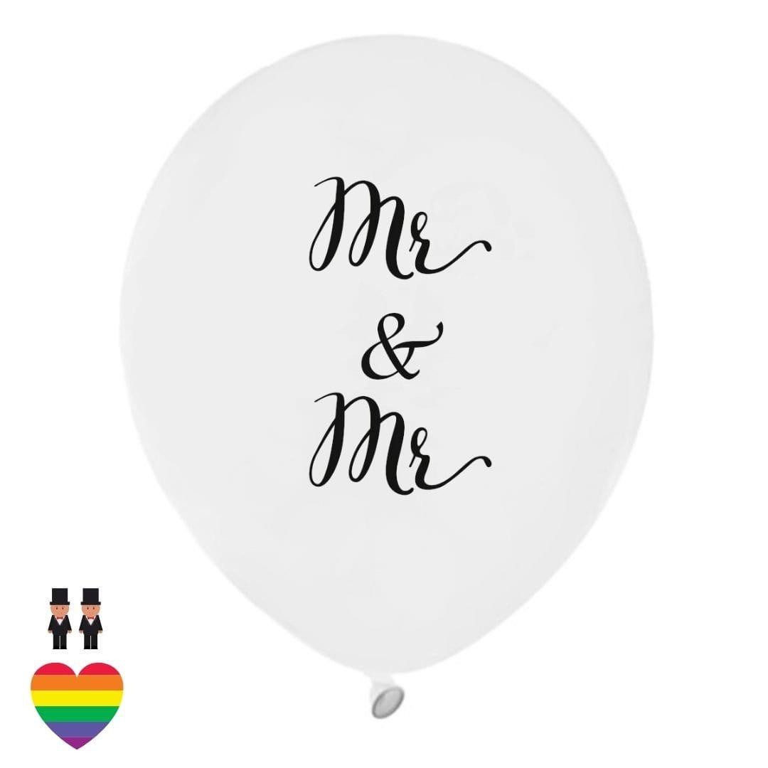 Latexballons Hochzeit Mr & Mr (10 Stück)