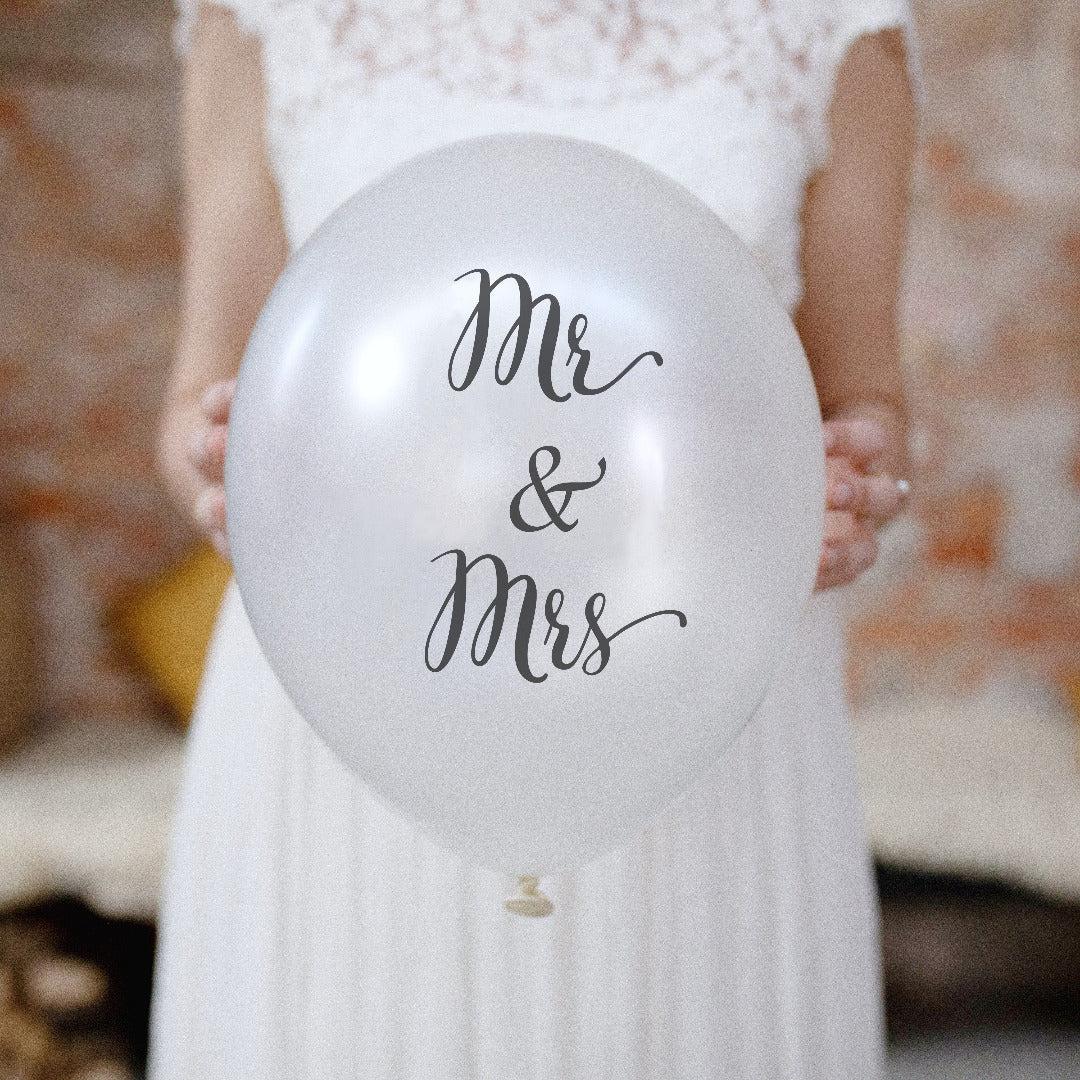 Latexballons Hochzeit Mr & Mrs (10 Stück)