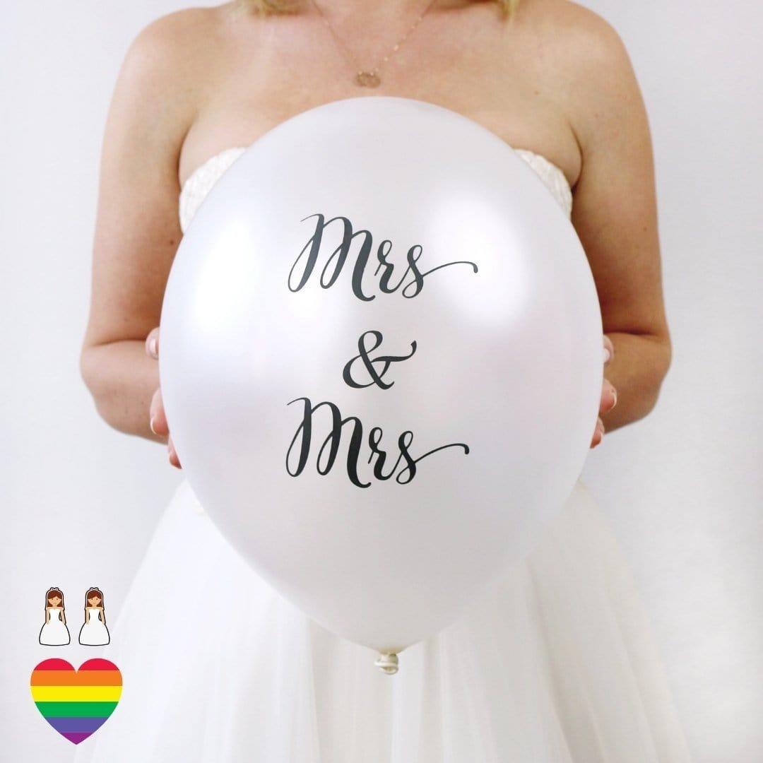 Latexballons Hochzeit Mrs & Mrs (10 Stück)