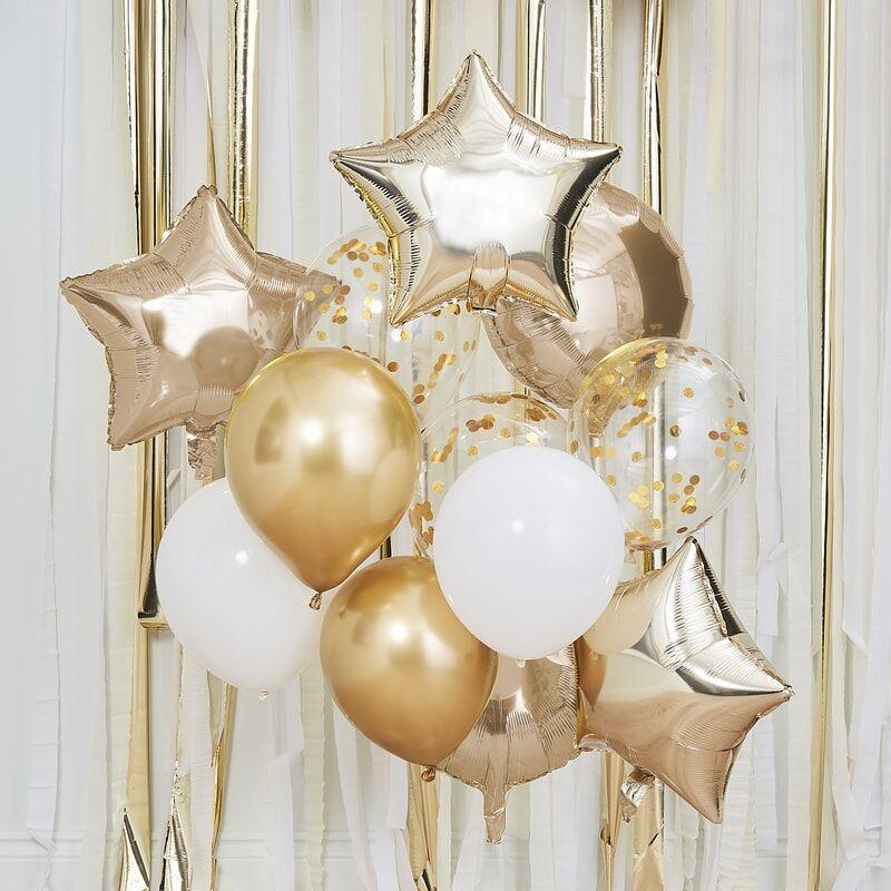 Luftballon Set Mix gold