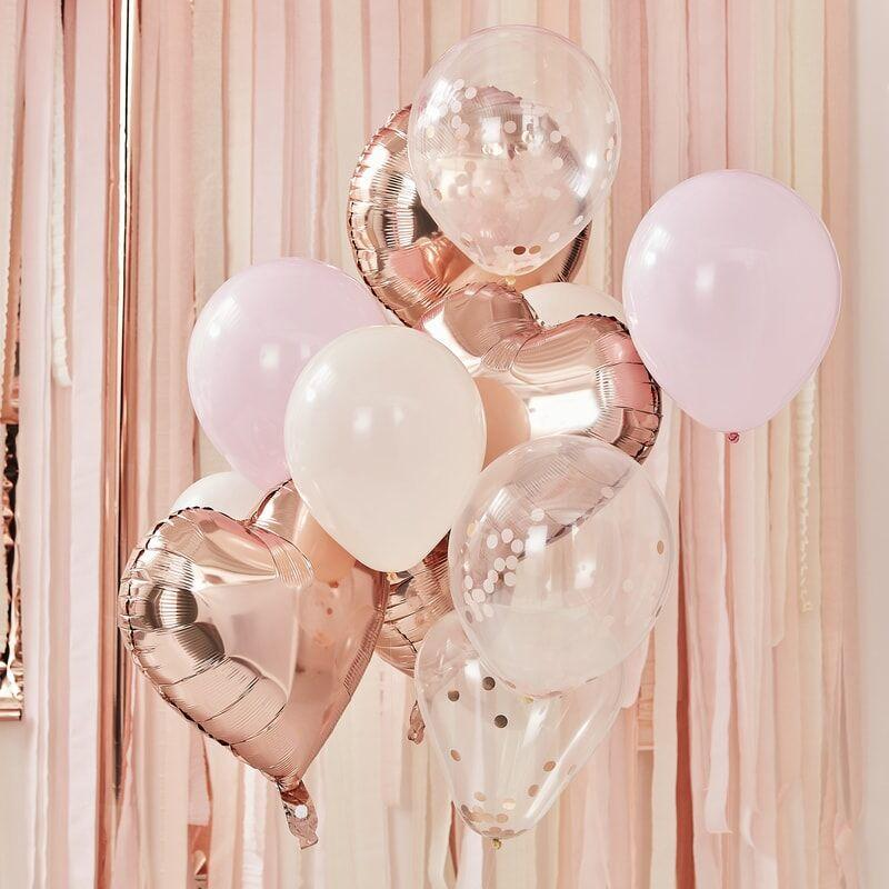 Luftballon Set Mix rosegold